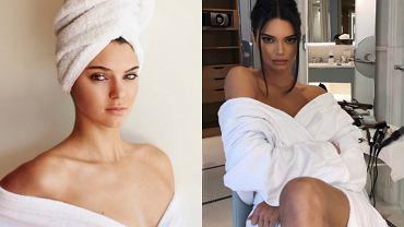 Kendall Jenner wyszła spod prysznica i prawie zaliczyła wpadkę. Mało brakowało, a pokazała by fanom za dużo