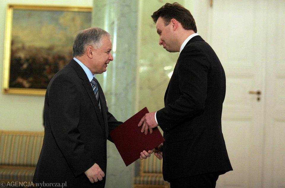 Prezydent Lech Kaczyński i Andrzej Duda