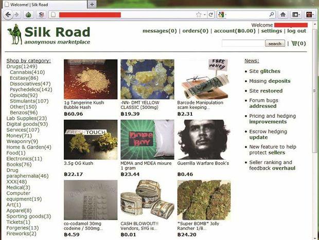 Portal Silk Road umożliwiający m.in. handel narkotykami zamknięty przez FBI
