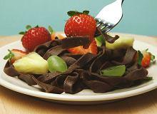 Domowy makaron - czekoladowe wst��eczki - ugotuj