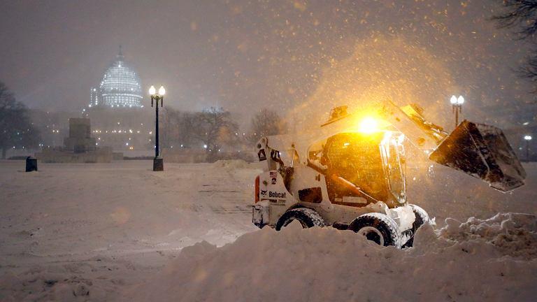 Burza śnieżna w Waszyngtonie