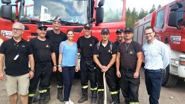 Księżniczka Wiktoria Bernadotte, następczyni tronu Szwecji, odwiedziła polskich strażaków