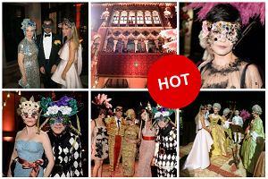 Joanna Przetakiewicz i inne gwiazdy świata mody na weneckim balu maskowym u Dolce & Gabbana - rozpoznajecie wszystkich? [DUŻO ZDJĘĆ]