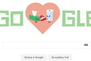 Google Doodle na walentynki. Google �wi�tuje Dzie� Zakochanych