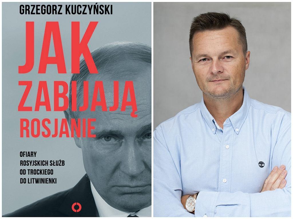 Grzegorz Kuczyński i okładka jego książki