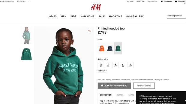 Reklama marki H&M - 'Coolest monkey in the jungle'