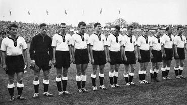 Wyjściowy skład reprezentacji RFN na mecz w 1958 roku