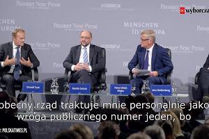 """Donald Tusk wrogiem publicznym numer jeden? Czarnecki: """"Donald, chłopaki nie płaczą, wyluzuj""""."""