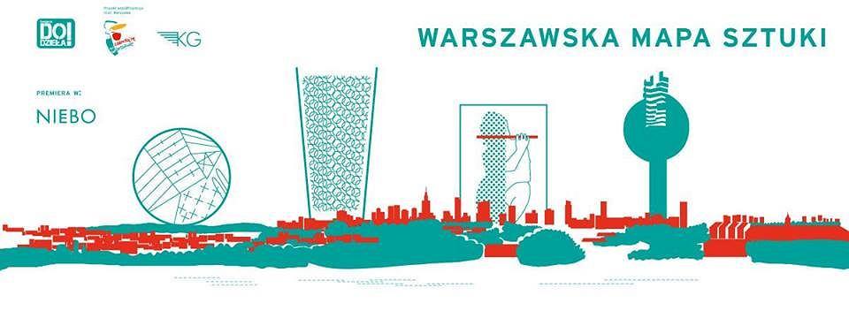 plakat warszawskiej mapie sztuki / materiały promocyjne