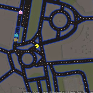 Kapitalna nowa us�uga od Google. Na mapach mo�na gra� w Pac-Mana