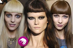 Trendy jesie� zima 2012 - prosta grzywka