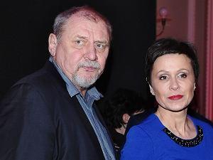 Andrzej Grabowski z żoną, Anitą Grabowską