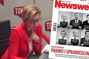 Politycy PiS w policyjnej kartotece na okładce Newsweeka. Wielowieyska: Narasta we mnie sprzeciw