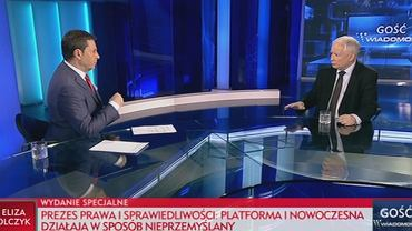 Jarosław Kaczyński w programie 'Minęła dwudziesta'