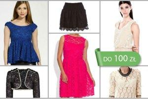 Koronkowe ubrania do 100 z� - ponad 60 propozycji