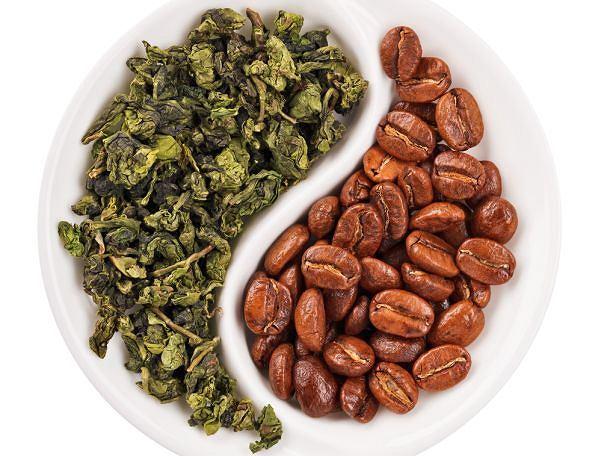 Зеленый чай против. кофе - кофеин, teina, вода