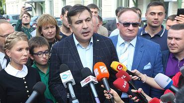 Były prezydent Gruzji Micheil Saakaszwili w Przemyślu, 10 września 2017