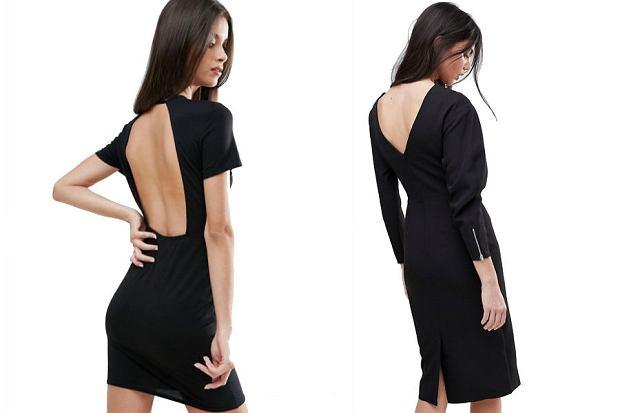 Czarne sukienki z odkrytymi plecami