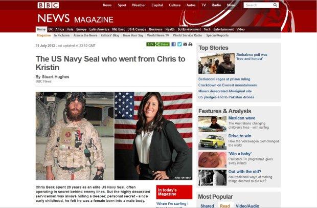 - Ca�e �ycie czu�em si� kobiet� - wyznaje superm�ski komandos Navy SEALs. I zmienia p�e�