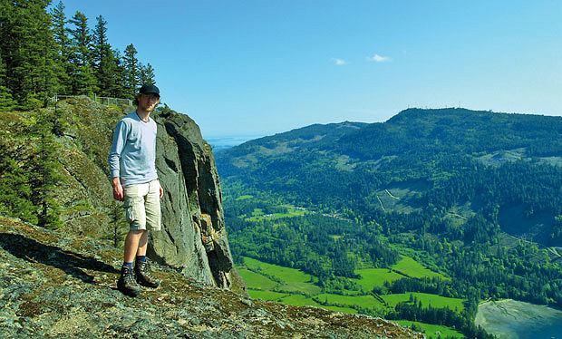 Podróże: na skraju raju czyli Kolumbia Brytyjska, ameryka północna, podróże, Na szczycie Mount Maxwell.