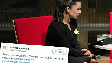 Beata Tadla zwolniona z TVP1