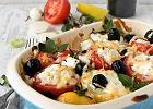 Placek z pomidorami i oliwkami