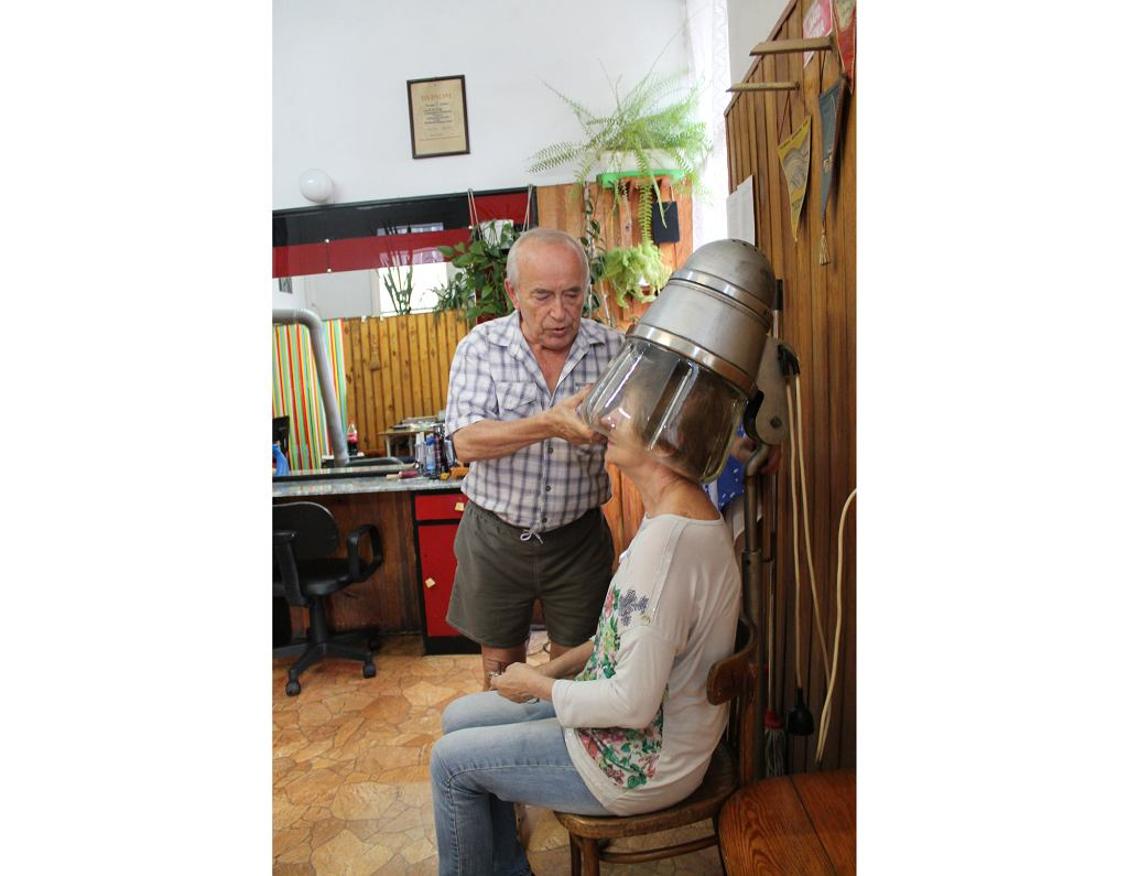 Suszarka w zakładzie pana Zbigniewa (fot. Honorata Zapaśnik)