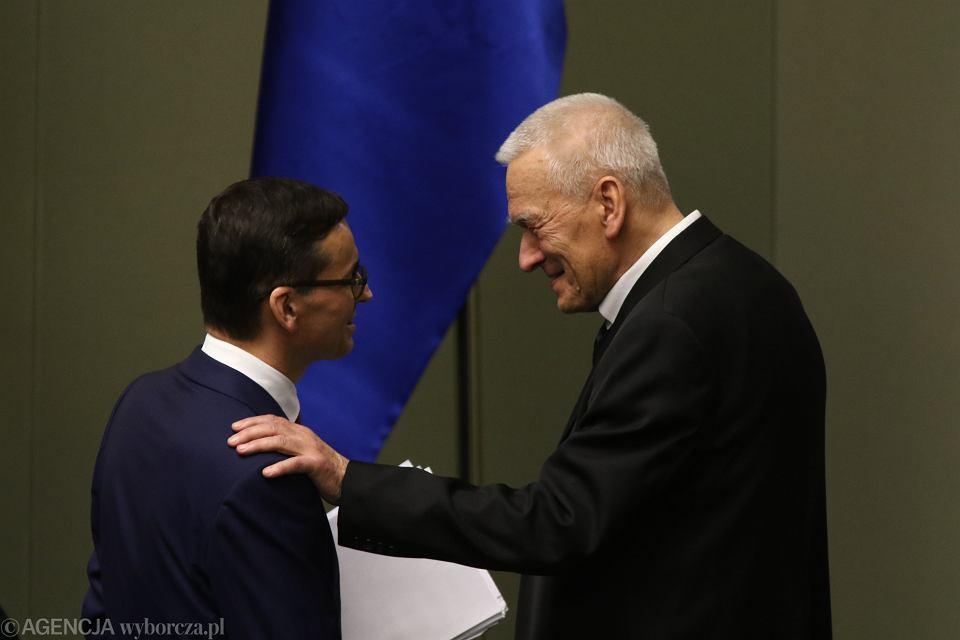 Poseł Kornel Morawiecki z synem, premierem Mateuszem Morawieckim