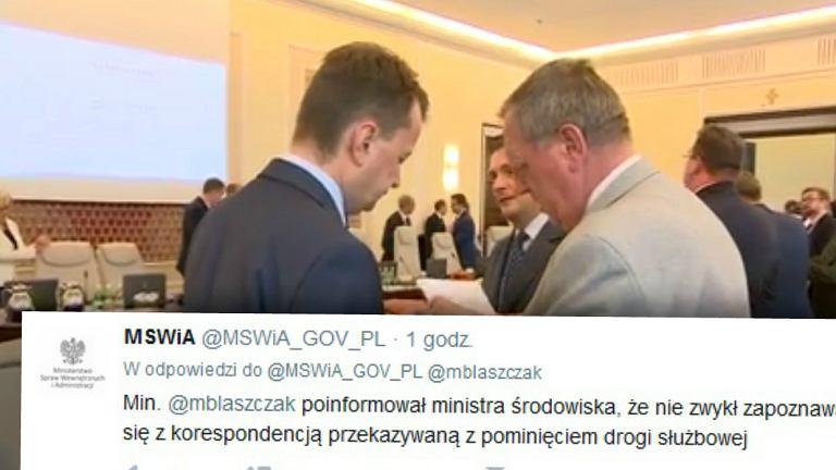 Rozmowa Mariusza Błaszczaka i Jana Szyszki