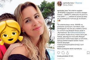 """Agnieszka Hyży o swoim porodzie: Patrzyłam na córkę i nie czułam nic. Nazwano ją """"wyrodną matką"""". Ekspertka uspokaja: To naturalne"""