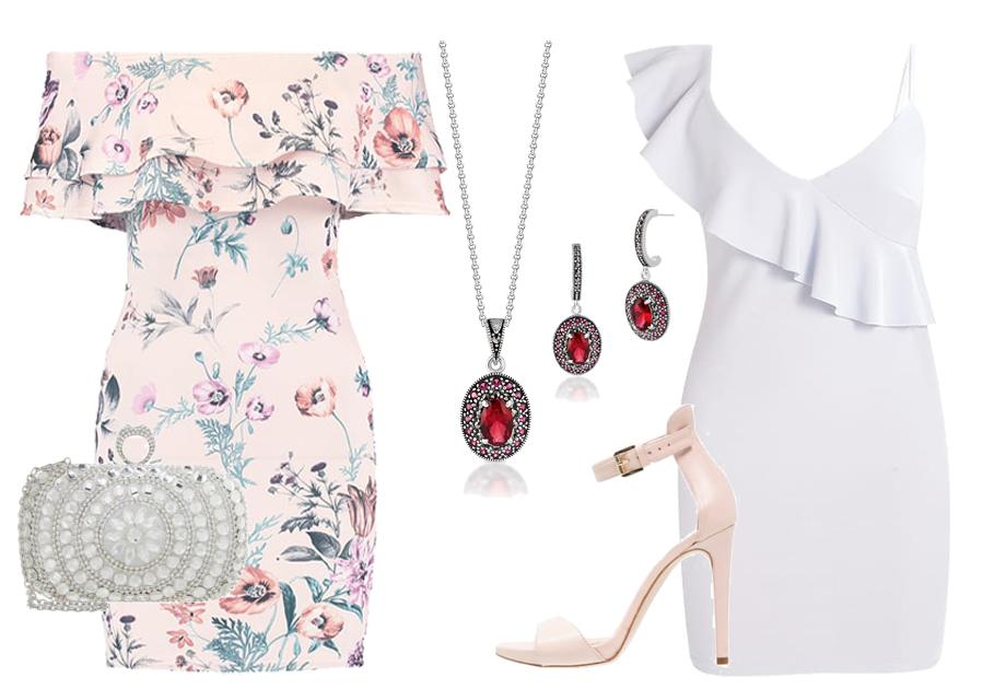 sukienka z falbaną biżuteria boho