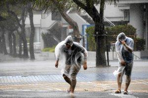 Pot�ny tajfun zbli�a si� do Japonii. 14 os�b rannych, tysi�ce dom�w bez pr�du [ZDJ�CIA]