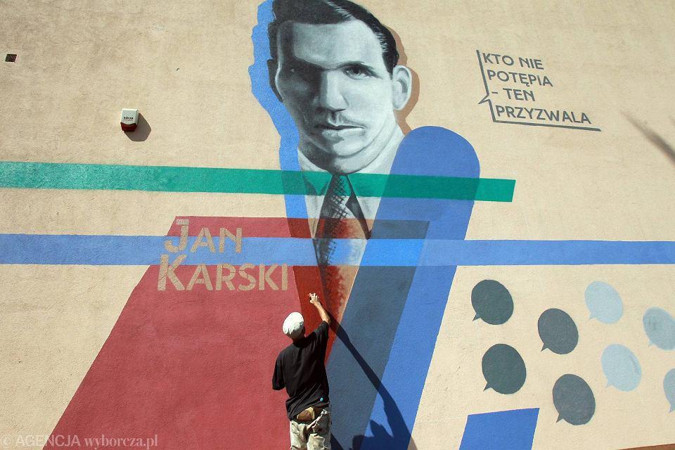 Ods oni to mural jana karskiego 39 to prosty symbol 39 for Mural ursynow