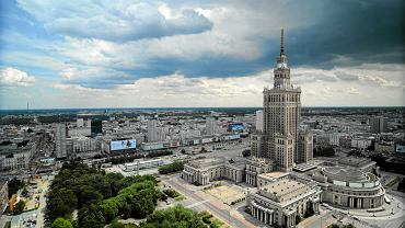Pałac Kultury i Nauki, widok z biurowca Warszawskiego Centrum Finansowego