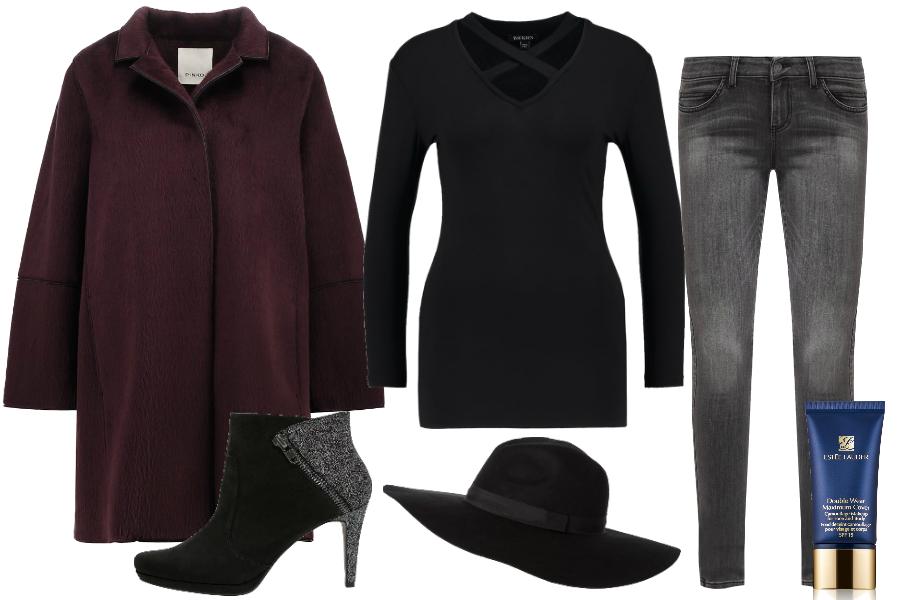Płaszcz oversize i kapelusz / kolaż: mat. partnera