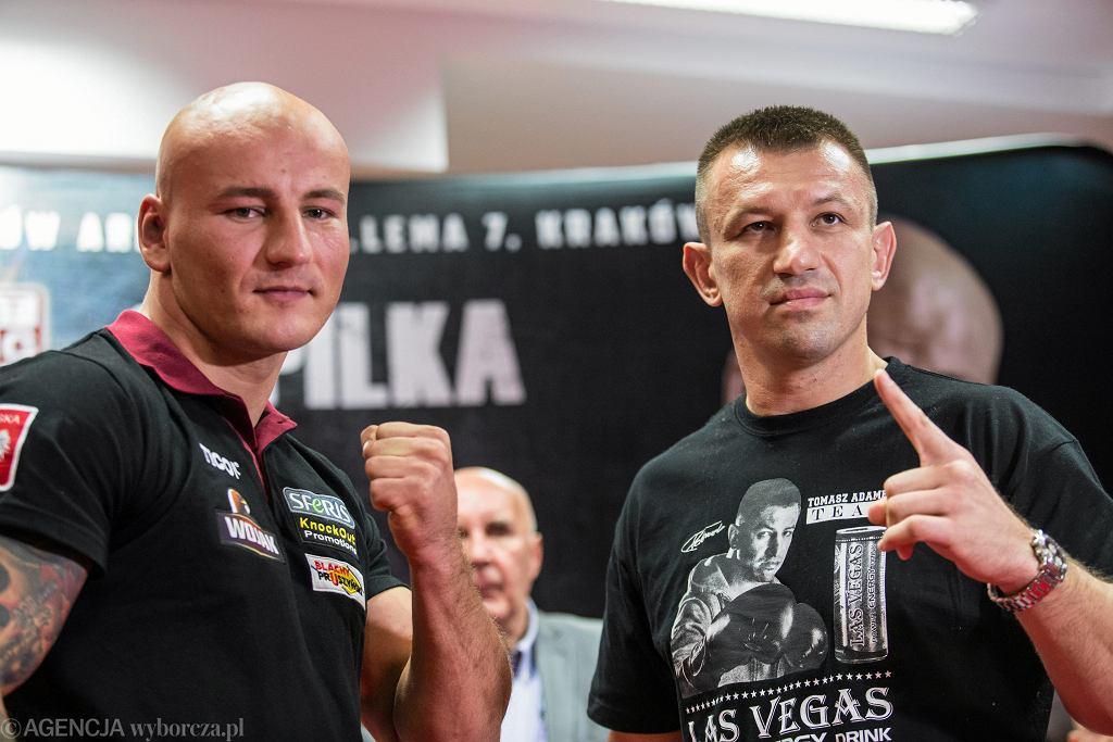 Artur Szpilka i Tomasz Adamek podczas konferencji prasowej przed Polsat Boxing Night