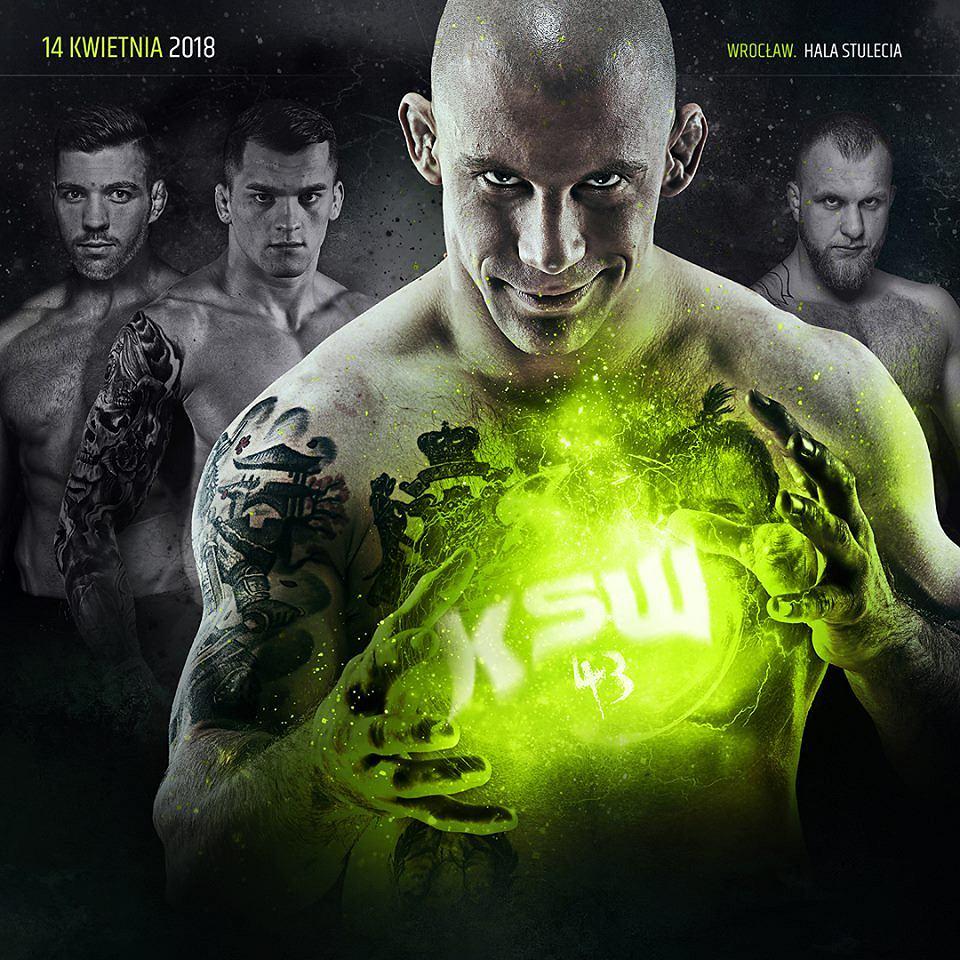 Damian Janikowski na plakacie reklamującym KSW 43
