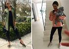 Czarne legginsy w stylizacjach na co dzień! Zobaczcie z czym je łączy Lewandowska