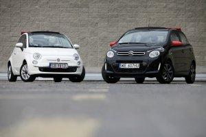 Citroen C1 vs. Fiat 500C | Test | Namiastki kabrioletów