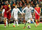 Robert Lewandowski podczas meczu eliminacji Mistrzostw Świata: Czarnogóra - Polska