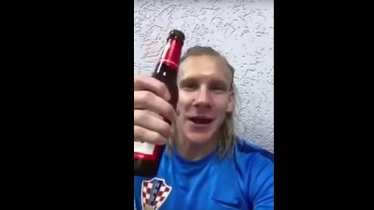 Domagoj Vida opublikował kolejny kontrowersyjny filmik