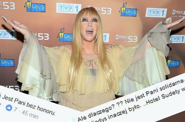Maryla Rodowicz odniosła się do swojego wystąpienia na konferencji Jacka Kurskiego w sprawie Opola. Chodzi o cenzurowanie przez prezesa TVP festiwalowego koncertu.