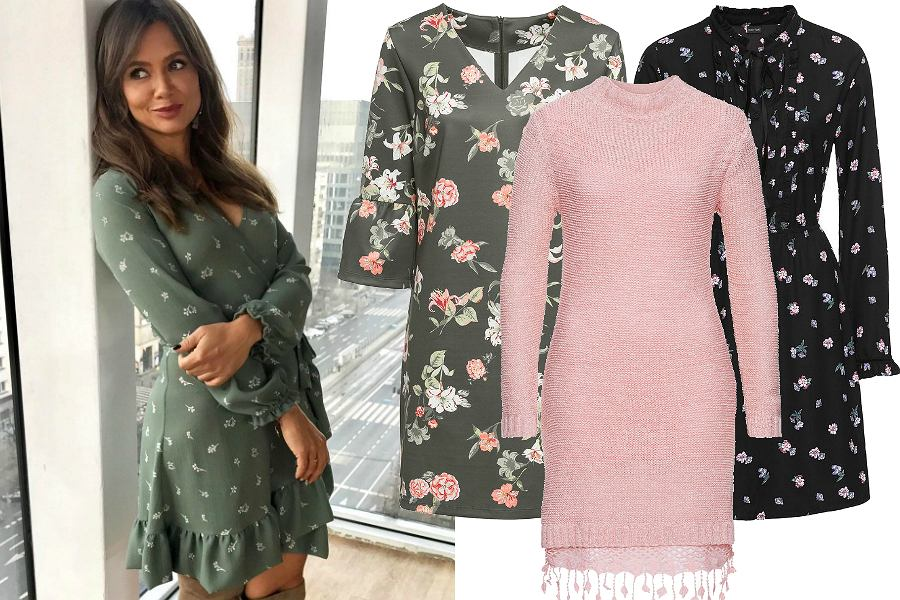4eff828854 Sukienki z długim rękawem są idealne na jesień. Te kopertowe w stylu Rusin  to 100% kobiecości. Zobaczcie aż 30 modeli
