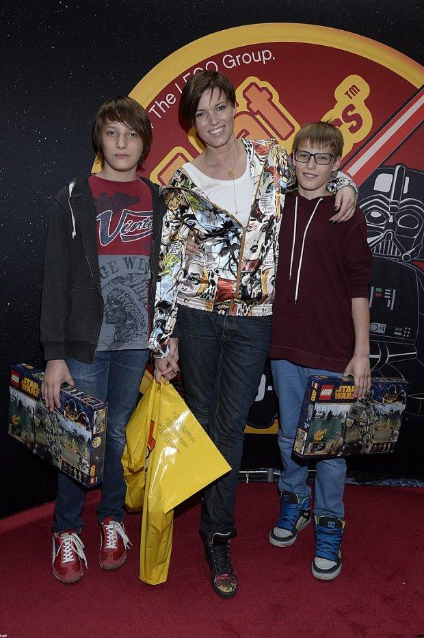 Ilona Felicjańska z synami, 13-letnim Maciejem i 12-letnim Adamem.