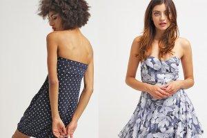 Sukienka bez rami�czek w trzech modnych ods�onach na lato