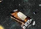 Artystyczna wizja teleskopu Keplera w przestrzeni kosmicznej