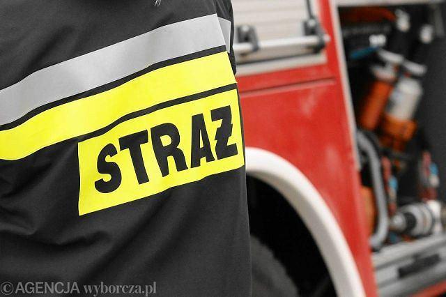 Koparka uszkodziła rurę z gazem na Białołęce. Strażacy ewakuowali mieszkańców.