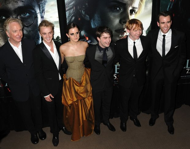 Alan Rickman, Tom Felton, Emma Watson, Daniel Radcliffe, Rupert Grint, Matthew Lewis