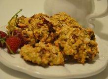 Ciasteczka owsiane z figami i migdałami - ugotuj