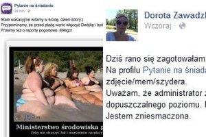 Wpisy na profilach Pytania na śniadanie i Doroty Zawadzkiej